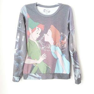 Disney | Faded Neverland Kiss Long Sleeve Tee Sz M